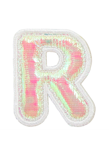 STONEY CLOVER PUFFY IRID LETTER PATCH  R