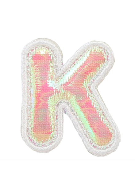 STONEY CLOVER PUFFY IRID LETTER PATCH  K
