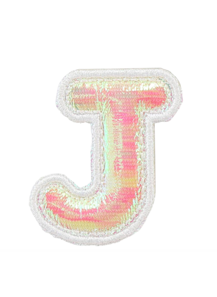STONEY CLOVER PUFFY IRID LETTER PATCH  J