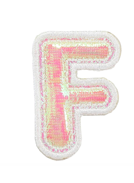 STONEY CLOVER PUFFY IRID LETTER PATCH  F