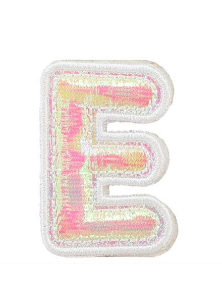 STONEY CLOVER PUFFY IRID LETTER PATCH  E