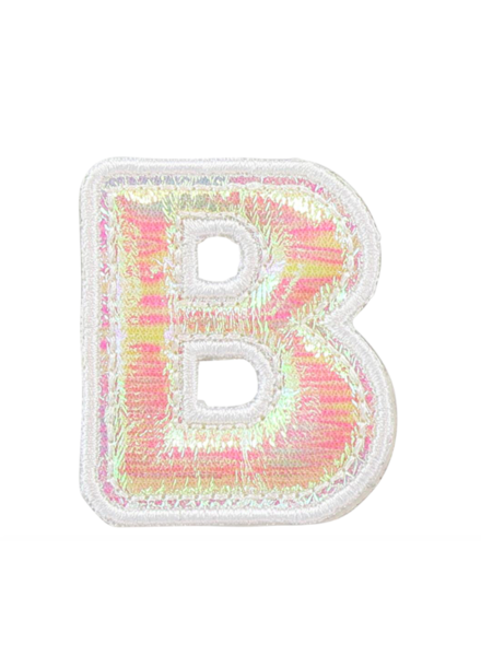 STONEY CLOVER PUFFY IRID LETTER PATCH  B