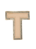 STONEY CLOVER STONEY CLOVER NEUTRAL METALLIC BLOCK PATCH T