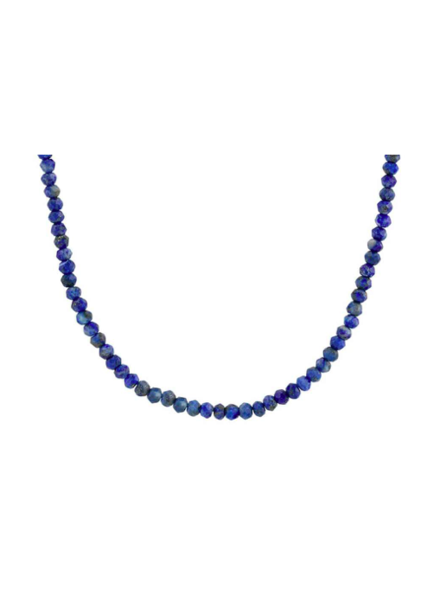 KRIS NATIONS KN LAPIS BEADED NECKLACE