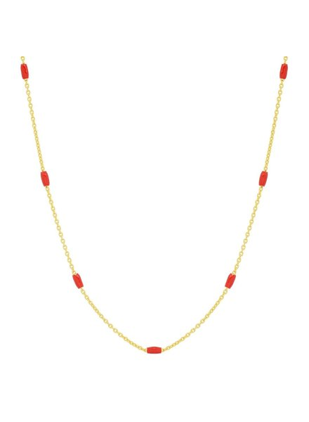 TAI JEWELRY SENN 5 (GV) RED NECKLACE