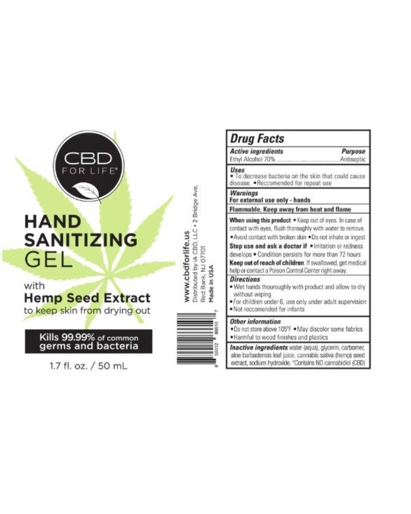 CBD For Life CBD Travel Hand Sanitizing Gel