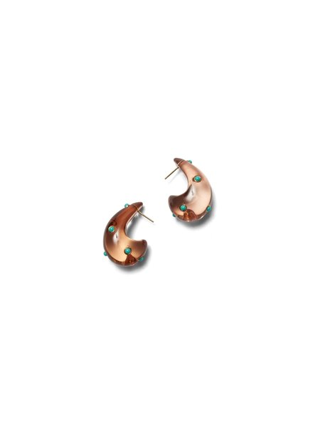 Lizzie Fortunato Jewels ARP EARRINGS IN DOTTED CARAMEL