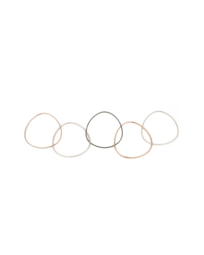 COLLEEN MAUER DESIGNS 5 LOOP TRI TONED BANGLE
