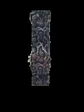 HAUTE SHORE HANDBAG STRAP CHARCOAL PYTHON