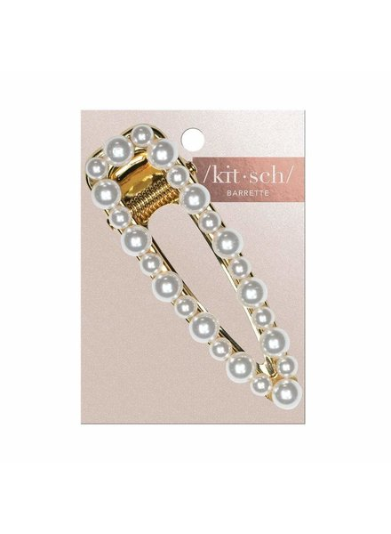 KITSCH PEARL OPEN BARRETTE GOLD