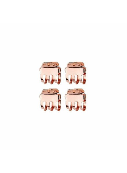 MINI CLAW CLIPS 4PC ROSE GOLD