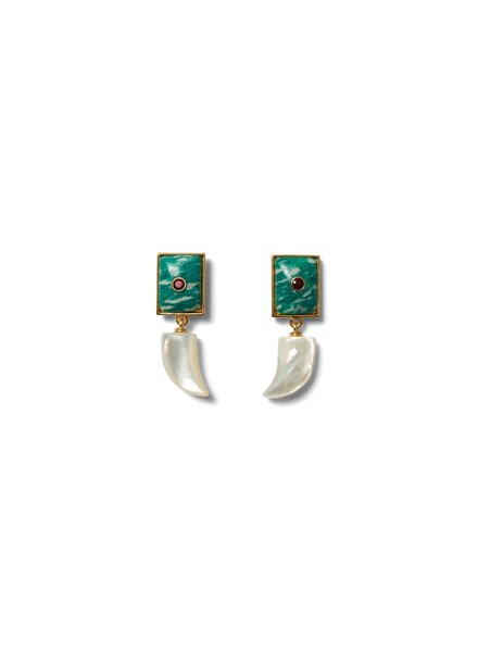 Lizzie Fortunato Jewels LFJ DEEP DIVE EARRINGS