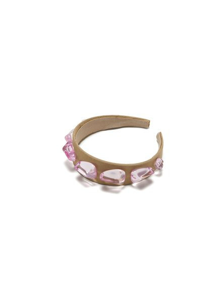 Lizzie Fortunato Jewels LFJ CRYSTAL HEADBAND IN ROSE
