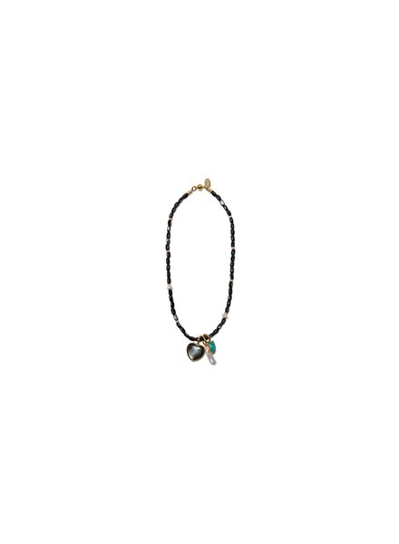 Lizzie Fortunato Jewels LFJ CATALINA NECKLACE BLACK