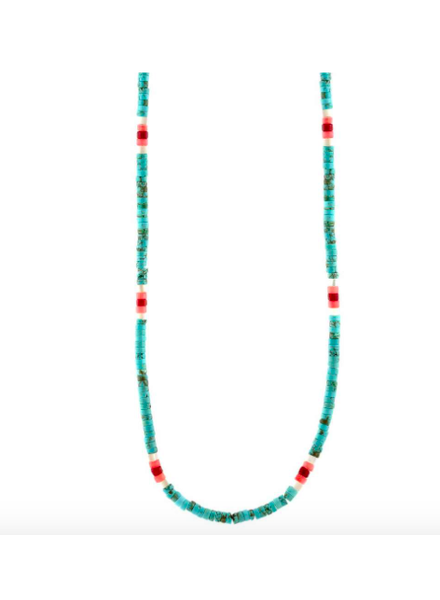 KRIS NATIONS KN TURQUOISE HEISHI NECKLACE