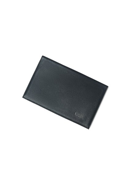 KUSSHI CLUTCH COVER BLACK LEATHER