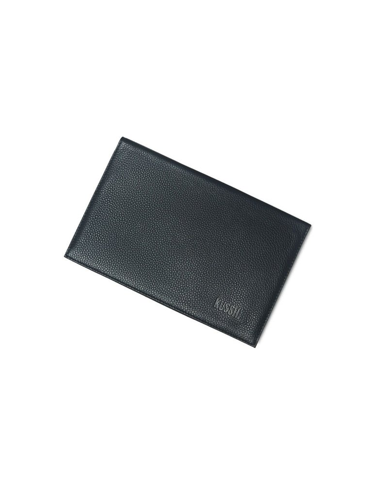 KUSSHI KUSSHI CLUTCH COVER BLACK LEATHER