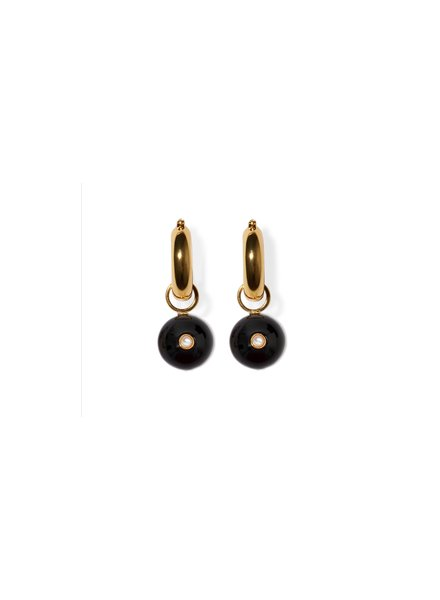 Lizzie Fortunato Jewels LUCKY CHANCE CHARM EARRING