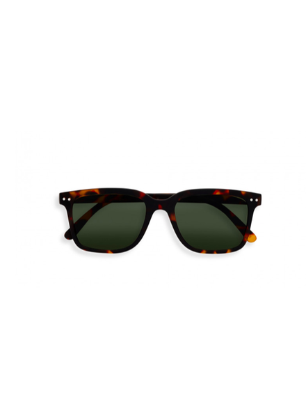 SUNGLASSES L TORTOISE GREEN LENSES