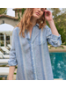FRANK & EILEEN FE MARY L/S BUTTON DOWN DRESS
