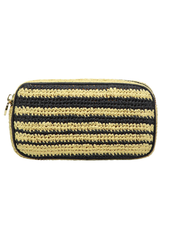 STONEY CLOVER SC WOVEN SMALL POUCH NATURAL/ NOIR