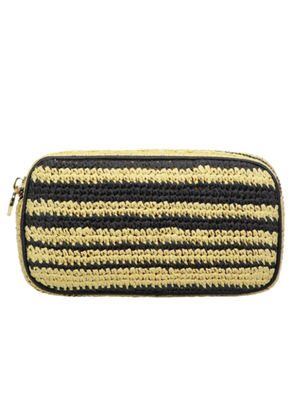 STONEY CLOVER WOVEN SMALL POUCH NATURAL/ NOIR