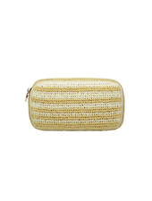STONEY CLOVER WOVEN SMALL POUCH NATURAL/ BLANC