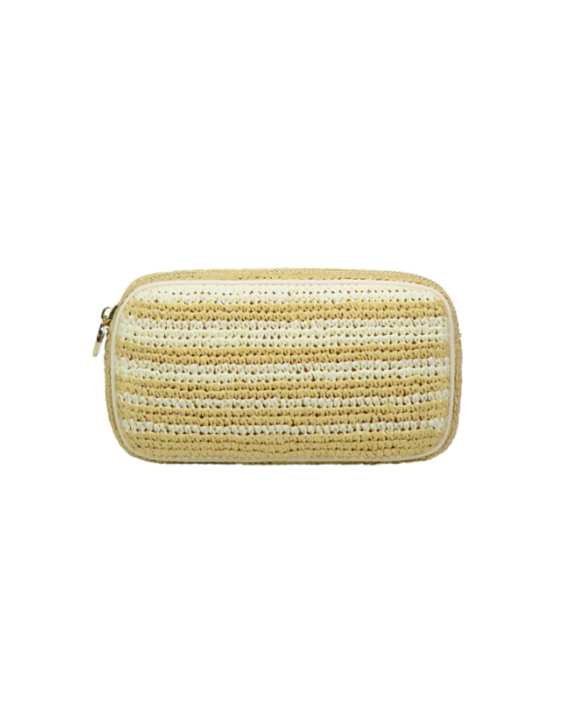STONEY CLOVER SC WOVEN SMALL POUCH NATURAL/ BLANC