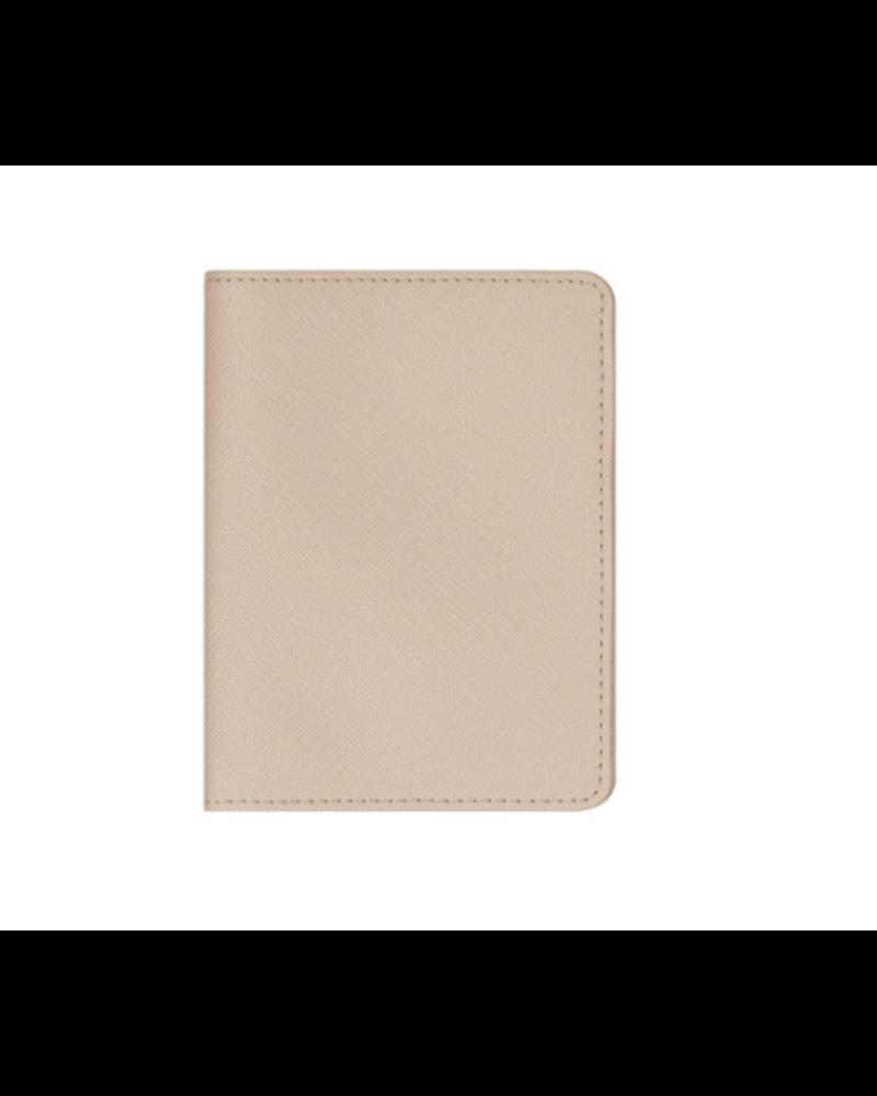STONEY CLOVER STONEY CLOVER TEXTURED PASSPORT CASE SAND