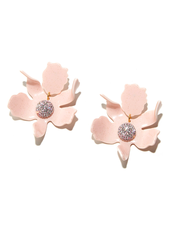 LELE SADOUGHI CRYSTAL LILY EARRING DUSTY PINK