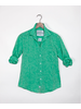 FRANK & EILEEN FRANK & EILEEN BARRY LONG SLEEVE  BLUTTON DOWN GREEN LINEN SIZE XS
