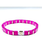 CARYN LAWN TINY TILE BRACELET GOLD/ HOT PINK