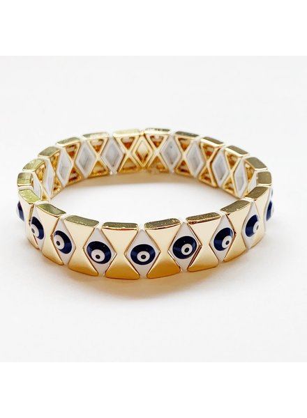 CARYN LAWN EVIL EYE DIAMOND BRACELET