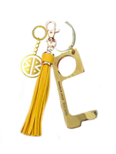 PIECES OF ME DON'T TOUCH THAT KEYCHAIN WOMEN'S YELLOW