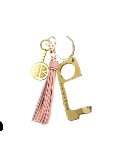 PIECES OF ME DON'T TOUCH THAT KEYCHAIN WOMEN'S BLUSH