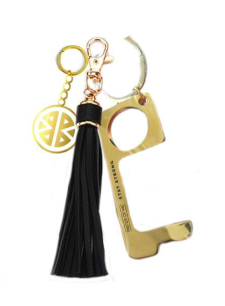 PIECES OF ME DON'T TOUCH THAT KEYCHAIN WOMEN'S BLACK