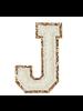 STONEY CLOVER STONEY CLOVER GLITTER VARSITY LETTER BLANC J
