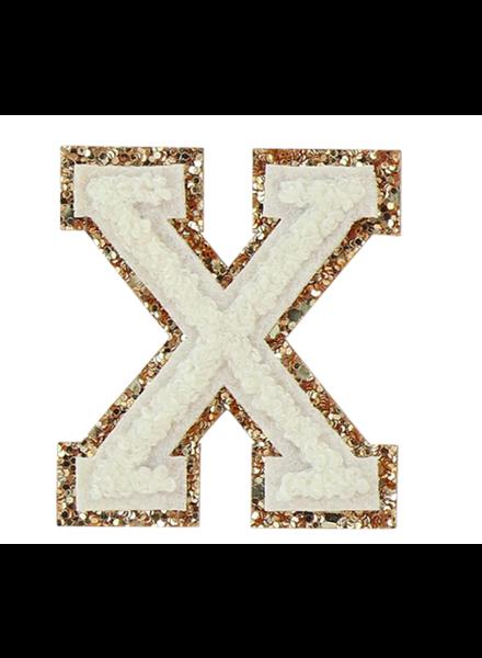 STONEY CLOVER GLITTER VARSITY LETTER BLANC X