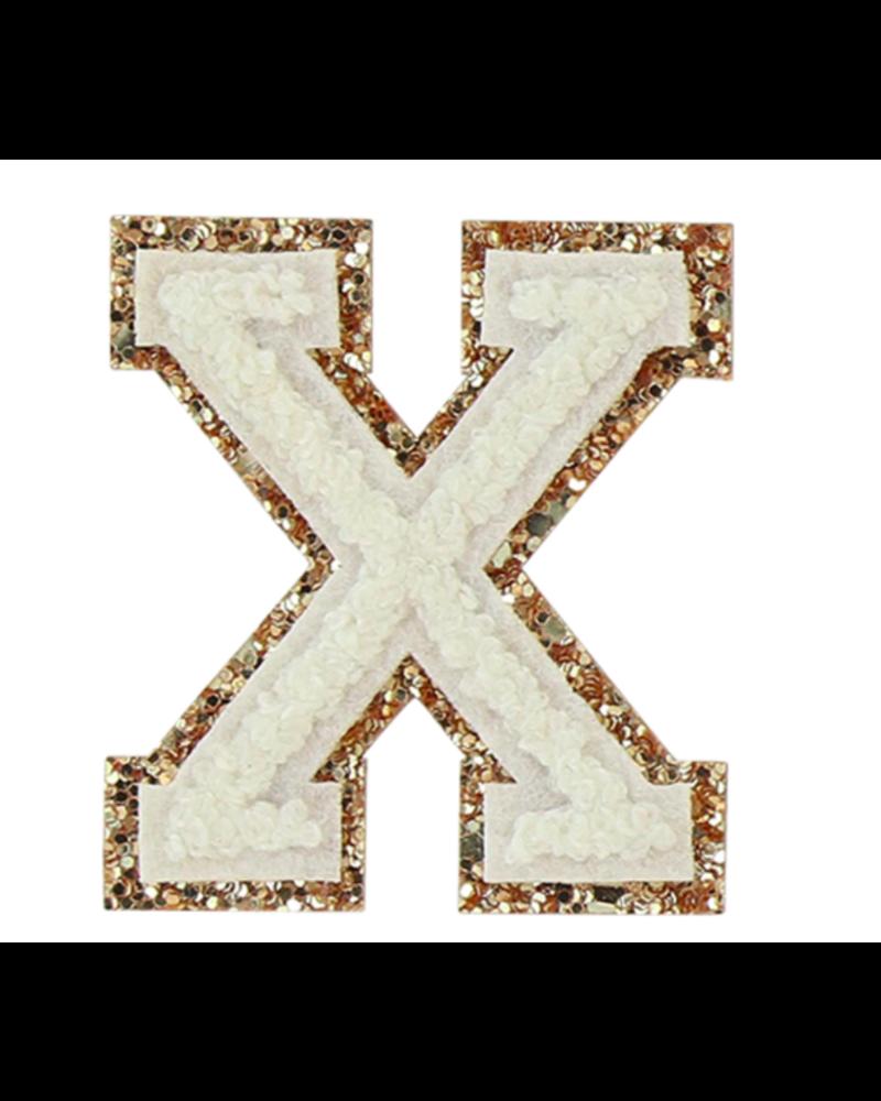 STONEY CLOVER STONEY CLOVER GLITTER VARSITY LETTER BLANC X