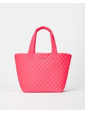 MZ Wallace METRO TOTE MED NEON PINK OXFORD