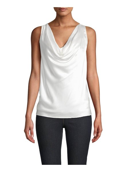 Nicole Miller CHARMEUSE COWL NECK TOP