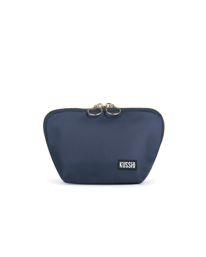 KUSSHI KUSSHI EVERYDAY MAKE UP BAG NAVY/PINK