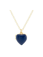 KRIS NATIONS HEART LOCKET ENAMEL COBALT