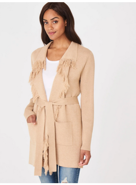 REPEAT 400414 BELTED CARDI
