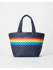 MZ Wallace METRO TOTE MEDIUM DAWN RAINBOW STRIPE