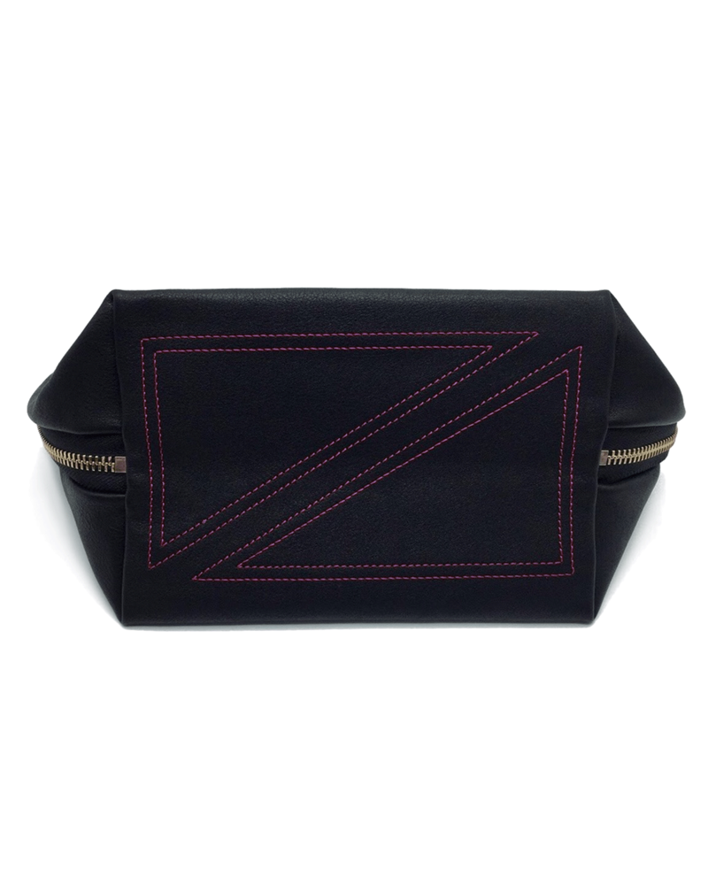 KUSSHI KUSSHI VACATIONER MAKE UP BAG NAVY/PINK