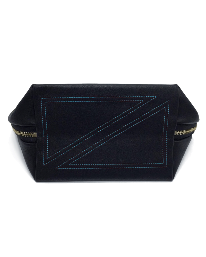 KUSSHI KUSSHI SIGNATURE MAKE UP BAG BLACK/TEAL