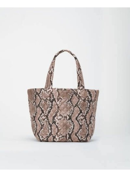 MZ Wallace METRO TOTE DELUXE MEDIUM BROWN SNAKE