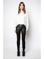 Zadig & Voltaire TAIS JAC LEO BI LONG SLEEVE TOP