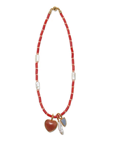LIZZIE FORTUNATO JEWELS CATALINA NECKLACE RED